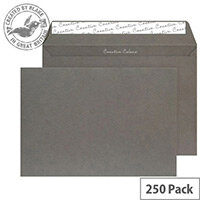 Creative Colour Graphite Grey Wallet C4 Envelopes (Pack of 250)
