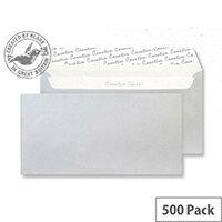 Blake Creative Shine DL+ 130g/m2 Peel and Seal Wallet Envelopes Metallic Silver Pack of 500