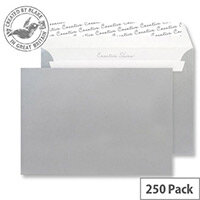 Creative Shine Metallic Silver Wallet C4 Envelopes (Pack of 250)