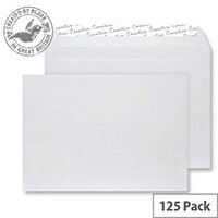 Creative Senses White Velvet Wallet C4 Envelopes (Pack of 125)