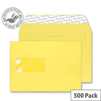 Creative Colour Banana Yellow Window C5 Envelopes (Pack of 500)