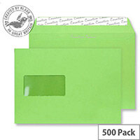 Creative Colour Lime Green Window C5 Wallet Envelopes (Pack of 500)