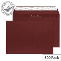 Creative Colour Bordeaux Wallet C5 Envelopes (Pack of 500)