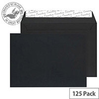 Creative Senses Black Velvet C4 Wallet Envelopes (Pack of 125)