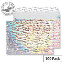 Creative Silver Shine Water Cascade C5 Wallet Envelopes (Pack of 100)