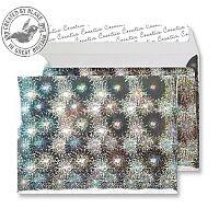 Creative Silver Shine Firework Blast C5 Wallet Envelopes (Pack of 100)