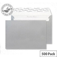 Creative Shine Metallic Silver Wallet C5 Envelopes (Pack of 500)