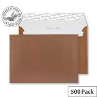 Creative Shine Metallic Copper Peel and Seal Wallet C5 Envelopes (Pack of 500)