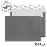 Creative Shine Grey Metallic Gunmetal Wallet C5 Envelopes (Pack of 500)