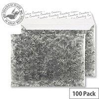 Creative Silver Shine Galvanised Steel C5 Wallet Envelopes (Pack of 100)