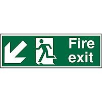 Prestige Sign 2mm DS 300x100 FireExit Man Running LeftArrow