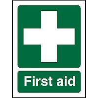 Prestige Acrylic Sign 2mm Double Sided Backing 150x200 First Aid