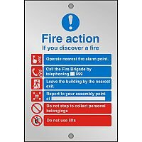 Clear Sign 150x200 5mm Fire Action If You Discover A Fire