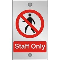 Clear Acrylic Sign 120x200 5mm Acrylic Staff Only