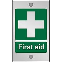 Clear Acrylic Sign 120x200 5mm Acrylic First Aid