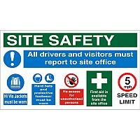 Construction Safety Board 800x450 Site Safety Sign 3mm Foam PVC Safety