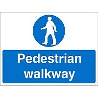 Construction Board 800x600 Safety Sign 3mm Foam PVC Pedestrian Walkway