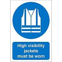 Construction Board 400x600Safety Sign 3mm High Vis Jackets Must Be Worn
