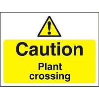Construction Board 600x450 Safety Sign 4mm Fluted Caution Plant Crossing