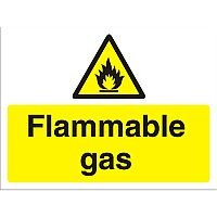 Construction Safety Board 600x450 Safety Sign 3mm foam PVC Flammable Gas
