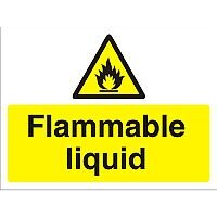 Construction Safety Board 600x450 Safety Sign 4mm Fluted Flammable Liquid