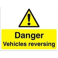 Construction Board 600x400 3mm Danger Vehicles Reversing