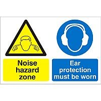 Construction Board 600x400 3mm Foam PVC Noise Hazard Zone