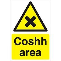 Construction Safety Board 400x600 Safety Sign 4mm Fluted Board Coshh Area