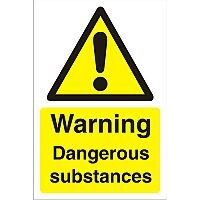Construction Board 400x600 Safety Sign 3mm Warning Dangerous Substances