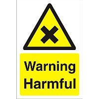 Construction Board 400x600 Safety Sign 3mm Foam PVC Warning Harmful