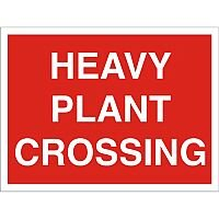 Construction Board 600x450 Safety Sign 4mm Fluted Heavy Plant Crossing