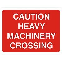 Construction Boar Safety Sign 4mm Caution Heavy Machinery Crossing Ref CON046Cx600x450