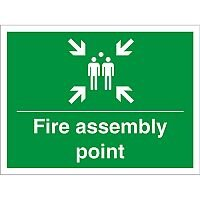 Construction Board 600x450 Safety Sign 3mm foam PVC Fire Assembly Point