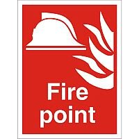 Construction Safety Board 400x600 Safety Sign 4mm Fluted Board Fire Point
