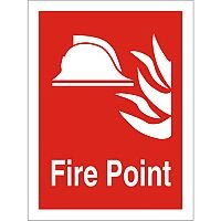 Photolum Fire Fighting Sign 200x300 Fire Point Self Adhesive Vinyl