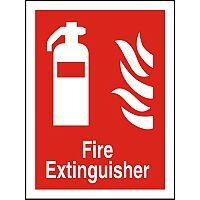 Photolum Fire Fighting Sign 200x300 Extinguisher Self Adhesive Vinyl