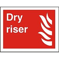 Photolum Fire Fighting Sign 200x300 S/A Vinyl Dry Riser Self Adhesive Vinyl