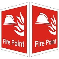 Protruding Fire Sign 2 Faces 150x200 Each 1mm Fire Point