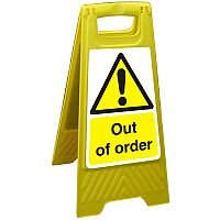 Free Standing Floor Sign 300x600 Polypropylene Out of Order Ref FSS008-300x600
