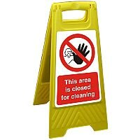 Free Standing Sign 300x600 This Area is Closed for Cleaning Ref FSS020300x600