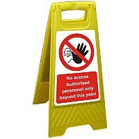 Floor Sign 300x600 Poly No Access Authorised Personal Only Ref FSS022300x600