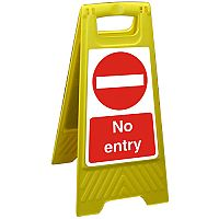 Free Standing Floor Sign 300x600 Polypropylene No Entry Ref FSS023-300x600