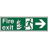 NHS Sign 600x200 1mm Fire Exit Man Running & Arrow Pointing Right