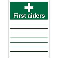 Stewart Superior KS007SRP Screw Plastic Sign  600x400  - First Aiders