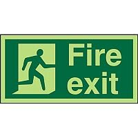 Photolum Acrylic Exit Sign 200x100 Fire Man Running Right