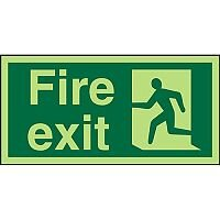 Photolum Exit Sign 2mm 300x150 Fire Exit  Man Running Left