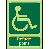 Photolum Sign 2mm 450x150 Wheel Chair Pictogram Refuge Point
