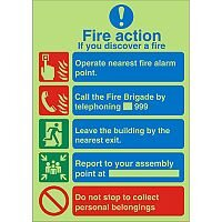 Photolum Safe Sign 200x300 1mm If You Discover A Fire