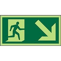 Photolum Sign 300x150 1mm Man Running Right & Arrow Down Right