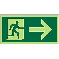 Photolum Sign 300x150  Man Running & Arrow Right 1mm Plastic